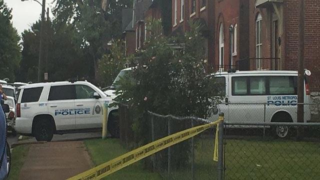 Police tape around the scene of an officer-involved shooting on Ridge Avenue Tuesday (Credit: Mugo Odigwe / News 4)