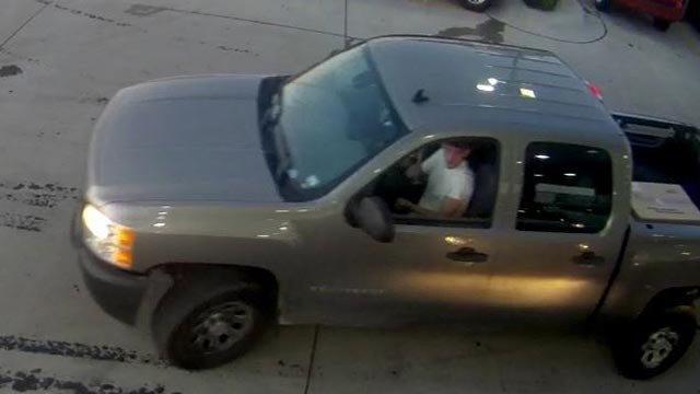 Surveillance photo of truck theft suspect (Credit: Police)