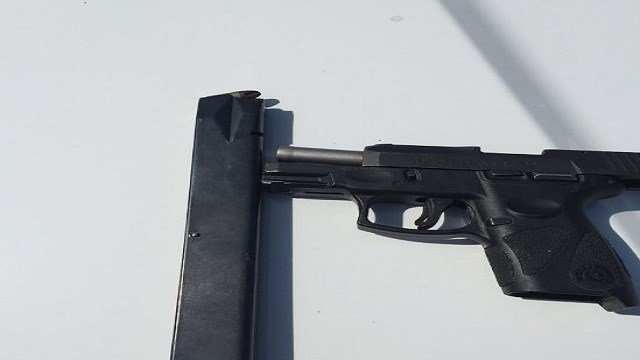 The St. Louis County Police Department says three guns have been seized in the past seven days by Metrolink day watch officers. (Credit: St. Louis County Police Department)