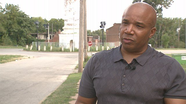 James Clark of Better Family Life speaks on the violence in the St. Louis area. (KMOV)