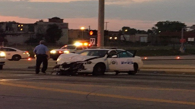 St. Louis Metropolitan Police Department is investigating after a police vehicle was involved in an accident in downtown St. Louis. (Credit: KMOV)