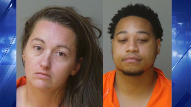 Christina Reed (left) and Montrel Fuller are accused of robbing an elderly woman and running her over in a vehicle.