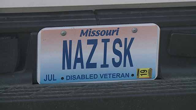 This license has caused confusion when people see it. Credit: KMOV
