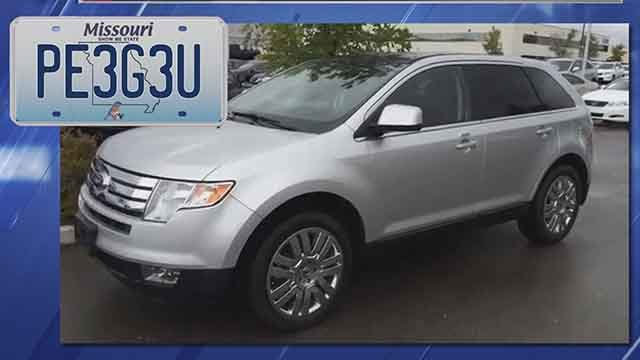 The suspect took off in the victim'ssilver 2010 Ford Edge Limited SUV. The SUV might have a broken window from where the robber threw a rock. Credit: KMOV