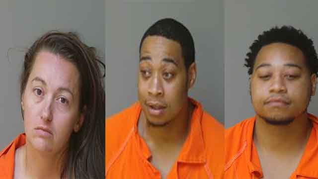 The St. Louis County Prosecuting Attorney's Office has charged three suspects in connection with a purse-snatching robbery that sent an 88-year-old woman to the hospital. (Credit: Florissant Police Department)