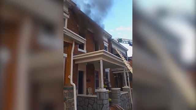 Firefighters fighting a fire at this home were ordered to stand down. Credit: KMOV