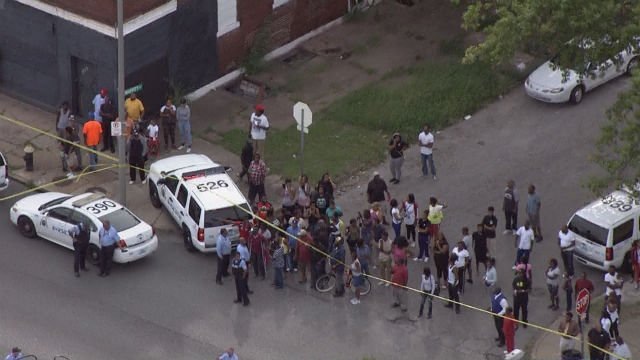 Sky-Zoom 4 captures the scene of the officer-involved shooting on Aug. 31. (KMOV)