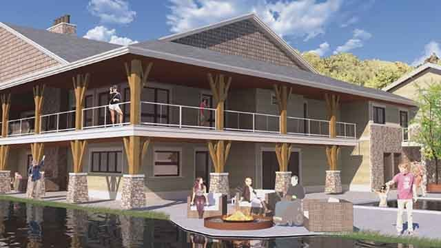 This is the design of a home being built for Officer Matt Crosby. Credit: KMOV