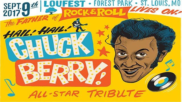 Poster for LouFest's Chuck Berry tribute (Credit: LouFest)