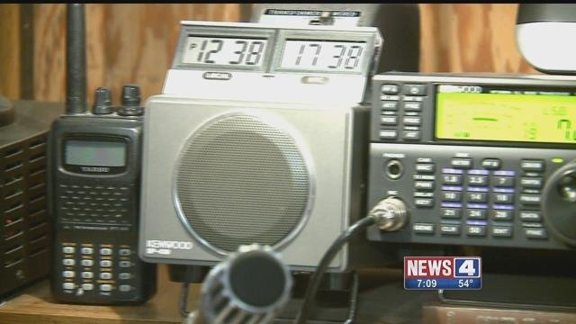 Authorities in St. Clair County used Ham radios to help a local woman contact her son in Houston during the aftermath of Hurricane Harvey (Credit: KMOV)