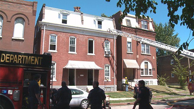 St. Louis fire crews were called out to the city's Dutchtown neighborhood on Saturday after a fire broke out at a three story building.(KMOV)