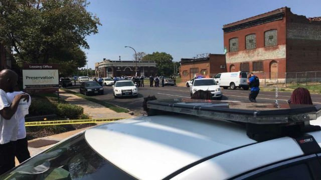 Two St. Louis police officers shot in city's downtown
