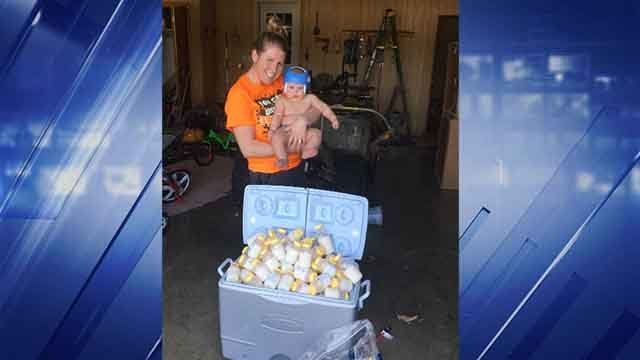 Danielle Palmer of Owensville, Mo. is sending a cooler of breastmilk to mothers in Houston who were affected but Hurricane Harvey (Credit: KMOV)