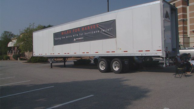 Fenton-based trucking company collects donations for Harvey flood victims. (KMOV)