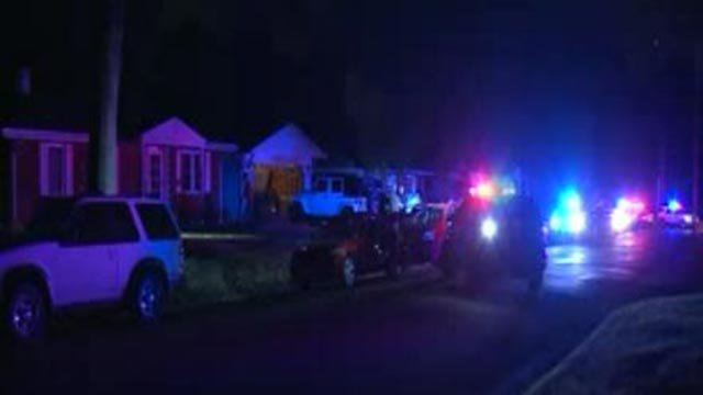 Police on Hillcrest Drive in Glen Carbon after a shooting Sunday night (Credit: KMOV)