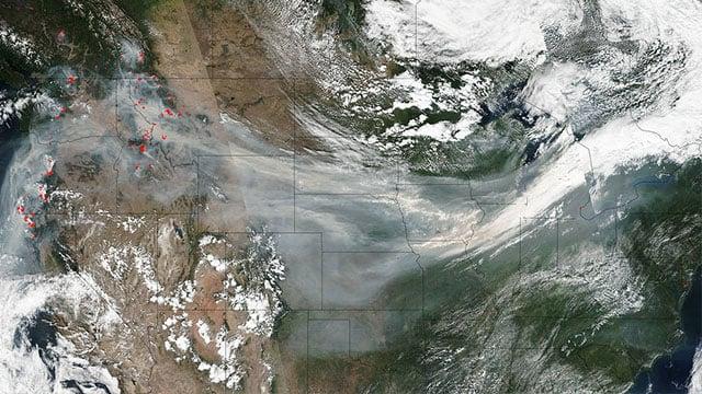 Image from NASA shows smoke across the US