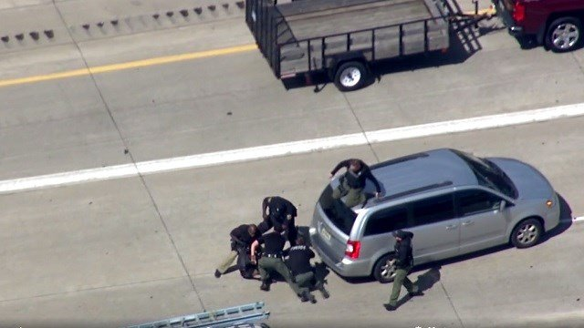 Police chase ends in Michigan (CNN Via WDIV)