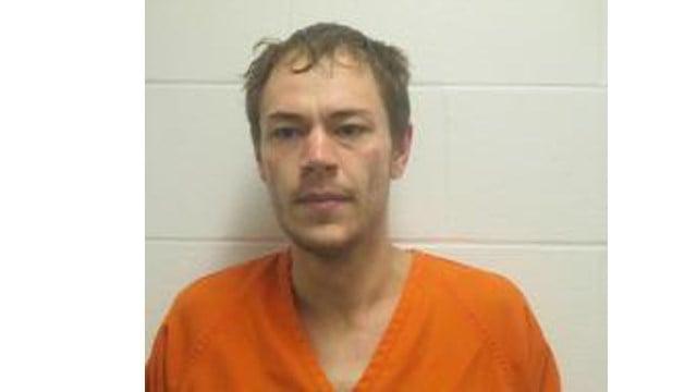 Crawford County Sheriff's Department mugshot of 26-year old Kaleb Douglas of Bourbon