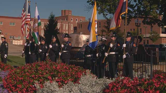 O'Fallon, Mo. honored first responders who died in the 9-11 terrorist attacks. Credit: KMOV