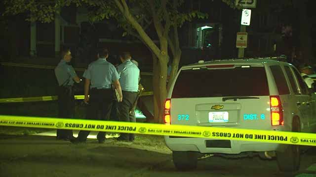 1 person died and another was wounded in a shooting that occurred near the intersection of Red Bud and Carter Monday night. Credit: KMOV