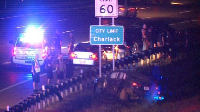Two suspects were taken into custody following a Monday night crash (Credit: KMOV)