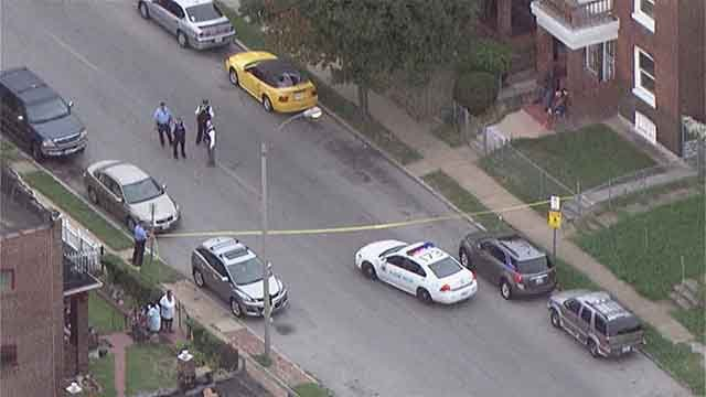 Police said 1 adult and 1 child were shot in north St. Louis Tuesday. Credit: KMOV