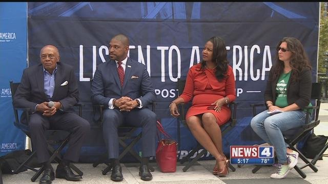 The national media publication, Huffington Post, kicked off a 25 city bus tour in St. Louis.