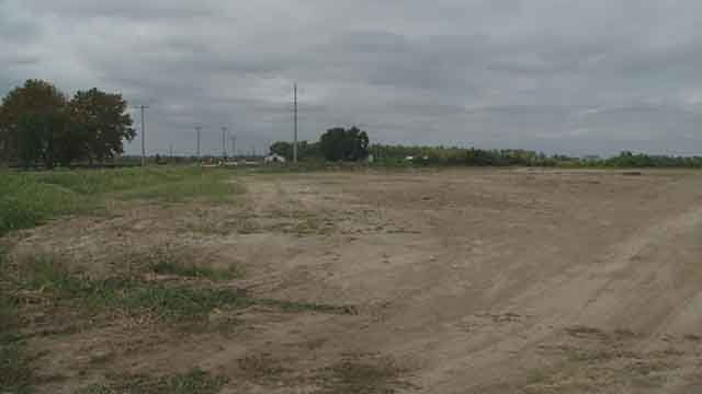 "St. Louis County officials have agreed to ""re-green"" a part of Creve Coeur Lake Park that had been cleared and leveled this summer and is also the site of a proposed ice rink complex. Credit: KMOV"