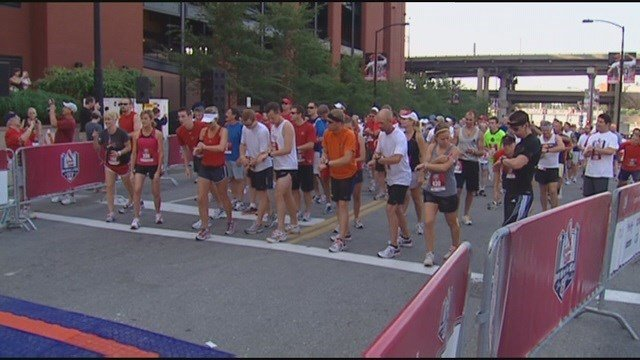 If you've ever had the urge to run across the field at Busch Stadium, Sunday is your chance. (Credit: KMOV)