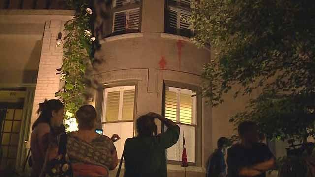 Police say Mayor Lyda Krewson's home was vandalized Friday night. Credit: KMOV