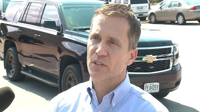 Gov. Greitens spoke to the media Saturday morning (Credit: KMOV)