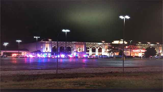 Heavy police presence at Casino Queen in East St. Louis following an armed robbery (Credit: KMOV)