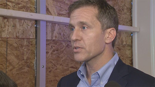 Missouri Governor Eric Greitens visited businesses in the Delmar Loop Sunday afternoon to see the damage left behind from Saturday night's protests. (KMOV)