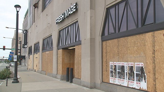Several businesses boarded up and closed after the verdict was announced Friday. (KMOV)