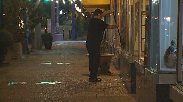 St. Louis Metropolitan Police saidthat late Saturday night 23 business along Delmar Boulevard were vandalized. (KMOV)