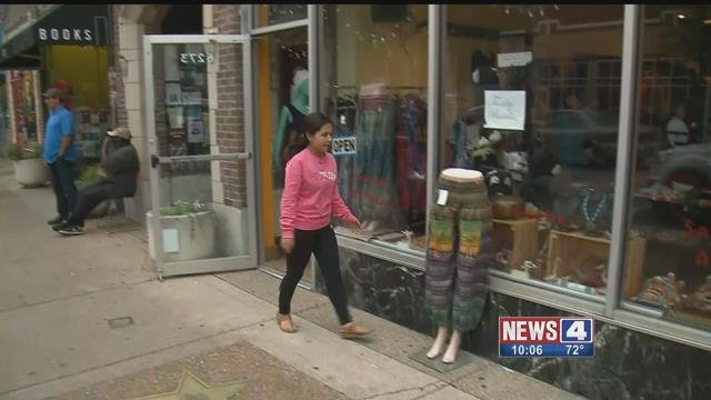 Some businesses in the Delmar Loop decided to close Monday after learning protests would be held there Monday night. Credit: KMOV