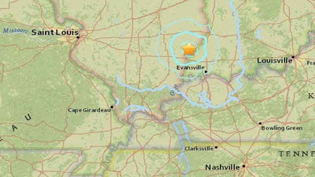 An earthquake rattled southern Illinois Tuesday (Credit: USGS)