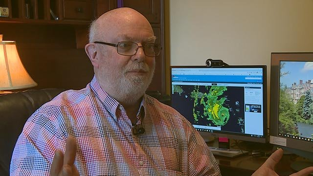 As a father, David Vail feels helpless tracking the path of Hurricane Maria from his O'Faillon home as his don is stuck on the island of St. Thomas. (Credit: KMOV)