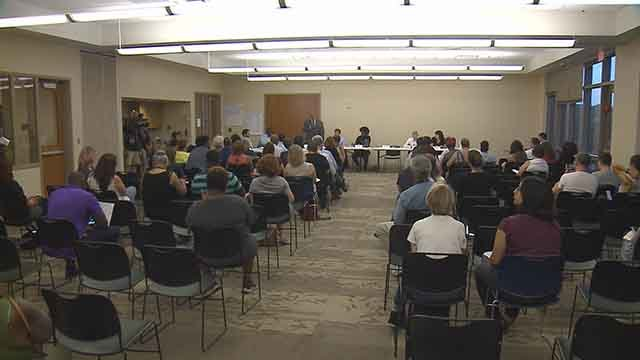 Dozens attended Citizen's Advisory Committee meeting to weigh in on search for police chief Wednesday. Credit: KMOV
