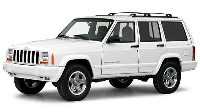 St. Louis County police are searching for a white 2000 Jeep Cherokee related to a suspicious death (Credit: St. Louis County Police Department/Twitter)