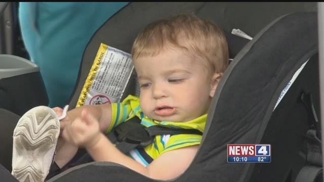 A child in a car seat. Credit: KMOV