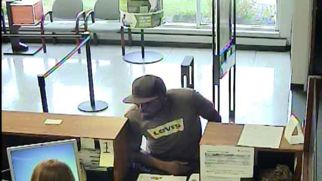 Police are searching for this man suspected of robbing a Regions Bank in Cahokia on September 23, 2017 (Credit: Cahokia Police Department)