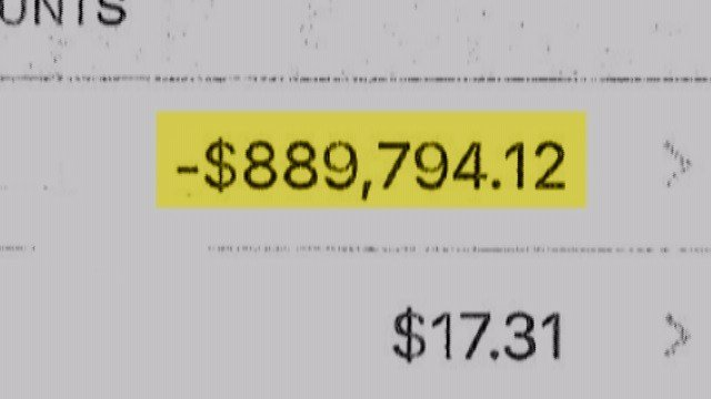 The Blacks' bank account at one point reached a negative of almost $1 million. (Credit: KMOV)