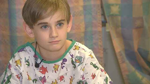 Thursday, Finnegan Shannon will receive a kidney from his father. Credit: KMOV