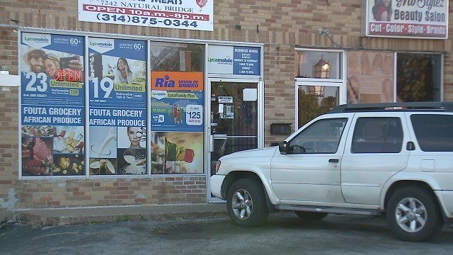 Police in Normandy are looking for the gunman who shot the owner of a grocery store during a robbery on Saturday. (Credit: KMOV)