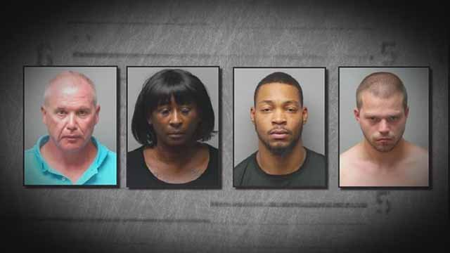 These four were charged in connection with protests that occurred in St. Charles on September 29. Credit: St. Charles Police