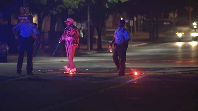 Police on the scene of the hit-and-run accident in the 5500 block of Page. Credit: KMOV