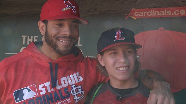 The love of baseball and compassion for others brought St. Louis Cardinals player Tommy Pham and Gabe Scalise together. (Credit: KMOV)