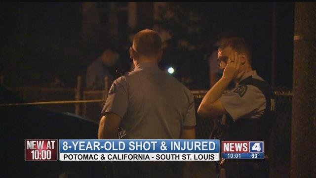 Police are investigating the shooting of a child in the 2800 block of Potomac Street Saturday evening. (Credit: KMOV)