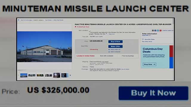 The site of a former missile silo is for sale in Missouri. Credit: KMOV